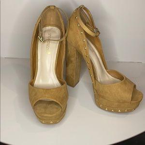 Studded chunky heel